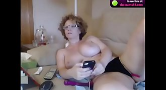 2 ps mature big boobs busty cam with red hair