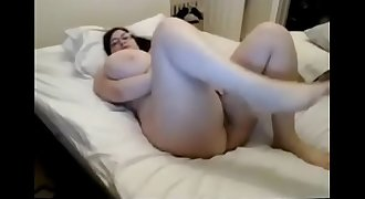 Chubby girl with extreme boobs masturbate - watch live at www.elitecams.tk