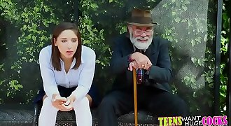 Abella Danger gets fucked and facialized at the bus stop.TS