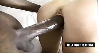 Hot white woman rails black cock