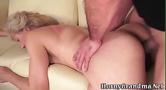 Ass n pussy fucked granny