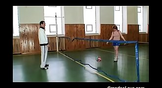 lovely teenager gets fucked by her old trainer